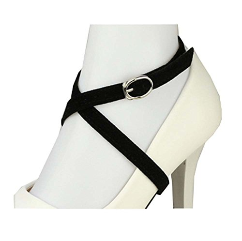 Correa de zapato de gamuza desmontable de las mujeres, accesorios antideslizantes del...