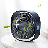 SmartDevil Small Personal USB Desk Fan,3 Speeds Portable Desktop Table Cooling Fan Powered by USB,Strong Wind,Quiet...