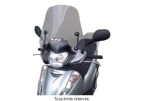 Fabbri Parabrezza Summer completo di attacchi Fumè chiaro per Honda-SH 300 dal 2006 fino al 2010