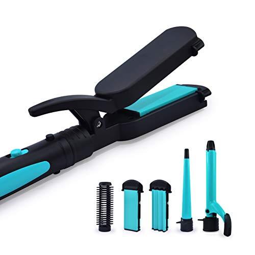 Havells HC4045 5 in 1 Hair Styler - Straightener, 19mm Curler, Crimper, Conical Curler & Volume Brush for Multiple Styles - (Blue/Black)