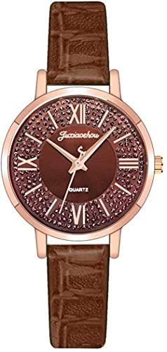 JZDH Reloj de Pulsera, Reloj de Cuarzo con dial dial Romano. 3ATM Reloj Deportivo Impermeable. Cuero + Material de aleación