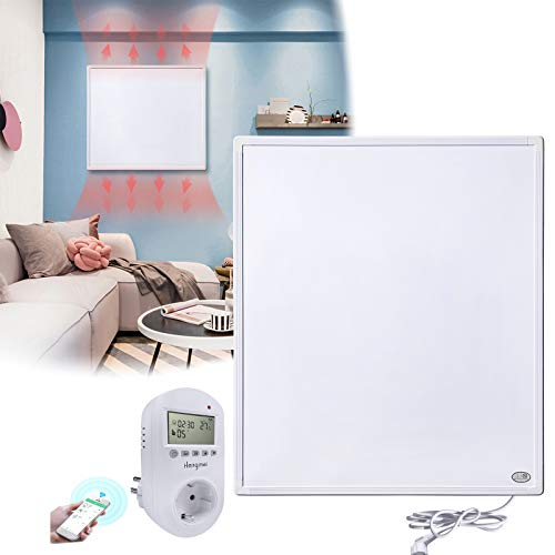 HENGMEI Infrarotheizung 300W mit Thermostat, APP WiFi Funktionen GS Tüv Prüfsiegel Wandheizung Elektroheizung Wand- Deckenmontage Überhitzungsschutz IP54 Schutz Heizpaneel