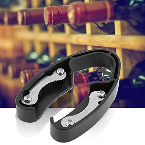 Emoshayoga Cortador de Papel de Aluminio con diseño de Lunares Cortador de Papel multifunción Seguro para el hogar para Botellas de Vino(Black)