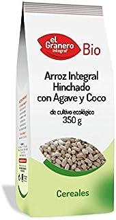 Cereales El Granero Integral Arroz Integral Hinchado Con Agave Y Coco Bio  Bolsa 350 G