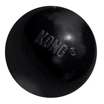KONG - Extreme Ball - Jouet en Caoutchouc pour mâchoires puissantes, Noir - pour Chien Moyen/Grand