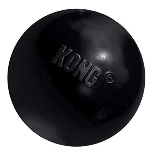 KONG – Extreme Ball – Hundespielzeug aus Robustem Kautschuk für Besonders Kräftiges Kauen, Schwarz – Für Mittelgroße/Große Hunde