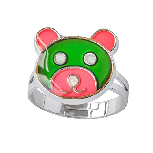 FOECBIR Mood Ring Can Change The Color and Adjustable The Size of The Decorations (Heart Shaped)