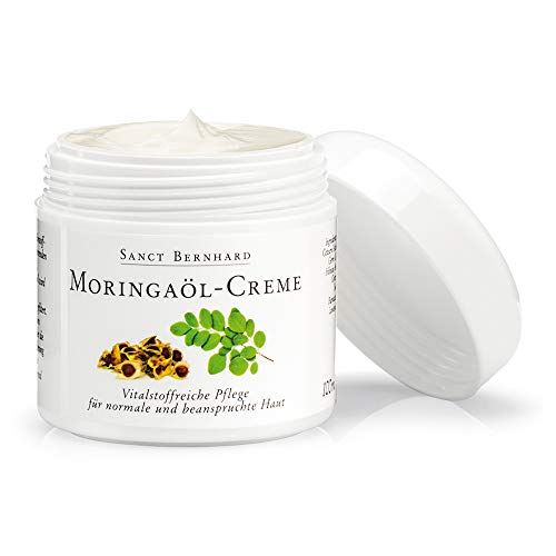 Moringaöl-Creme 100 ml, vitalstoffreiche Pflege für normale und beanspruchte Haut