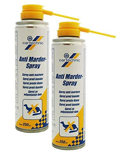 2x 250ml cartechnic Anti-Marder-Spray, Marderschutz, gegen Marder, Marderabwehr