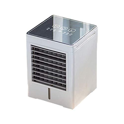 DERUKK-TY Mini-Luftkühler Touchscreen-Taste Desktop-Mini-Luftkühler Wasser- & Klimaanlagenlüfter Bürokühler Multifunktionaler eiskalter Lüfter cool