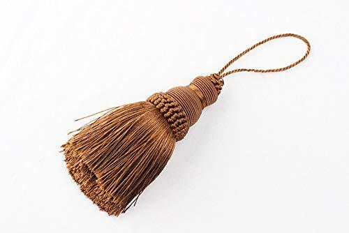 ZYHYCH 2 uds / 4 uds / 8 uds/lotee borla de seda con flecos para coser cuerda para colgar borlas adornos para ropa decoración borlas clave, para accesorios de cortina de adorno de bricolaje, café, 4
