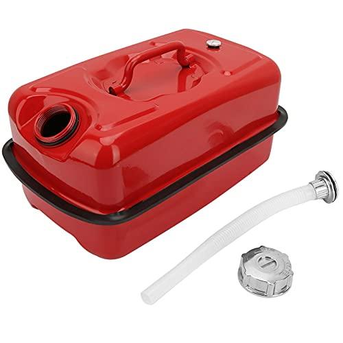 Tanica per carburante, tanica, tanica per carburante in metallo addensato di grande capacità da 10 litri Contenitore per benzina Tanica per olio Tanica con tubo