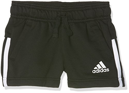 adidas adidas Mädchen 3-Stripes Shorts, Black/White, 116
