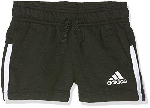 adidas Mädchen 3-Stripes Shorts, Black/White, 152