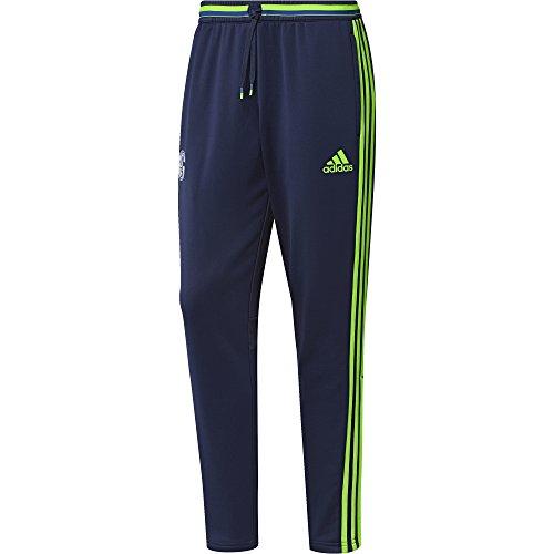adidas Herren Schalke 04 Hose, Dark Blue/Solar Green, M
