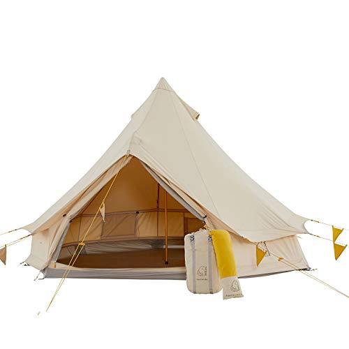 Nordisk Asgard Tech Mini Tipi 2 Personen Zelt Camping Haus Zelt Nylon Baumwolle Mustard