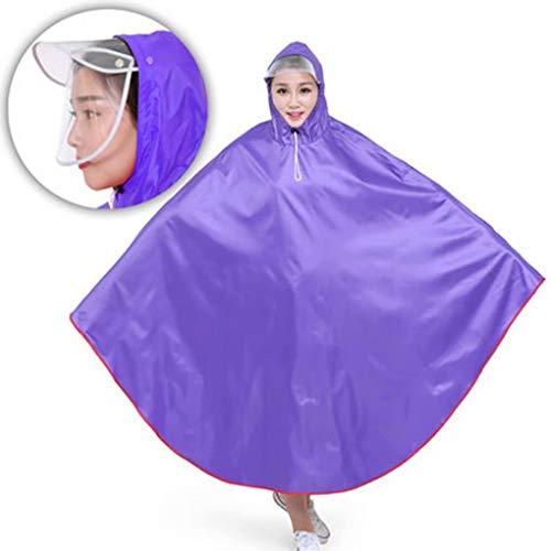 Scootmobiel Heren Dames Fietsen Fiets Regen Cape Poncho Hooded Winddicht Regenjas Hoes Outdoor Camping Tent Mat met transparante dop