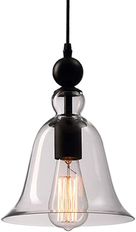 ZY Luminaire suspendu de cuisine industrielle avec abat-jour en verre transparent Cordon de textile réglable Lampes suspendues rétro pour salle à hommeger Cuisine Island