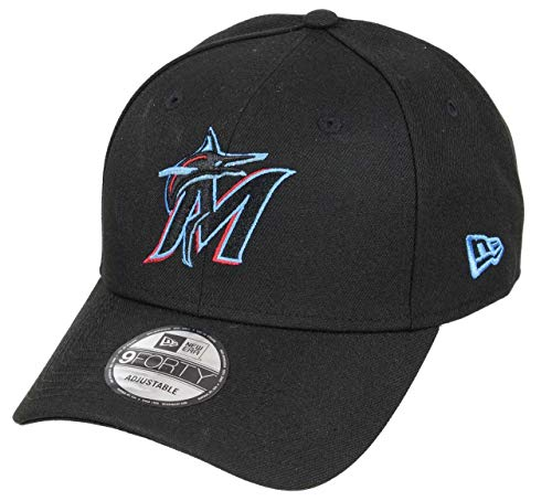 New Era Miami Marlins 9forty Adjustable cap MLB The League Black - One-Size