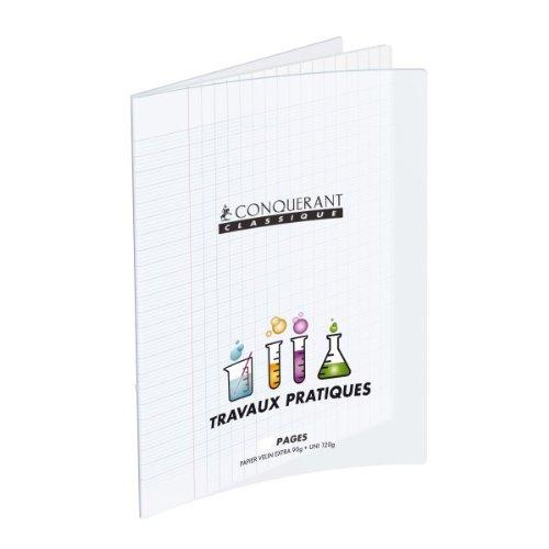 Conquérant 36690 Cahier Classique Travaux Pratiques Couverture Polypropylène Papier Vert