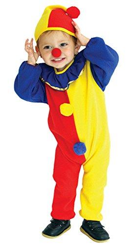 EOZY Kleinkind Clown Kostüm Halloween Jumpsuit mit Kapuze Karneval Fasching Kostüm Cosplay S Körpergröße 95-110cm