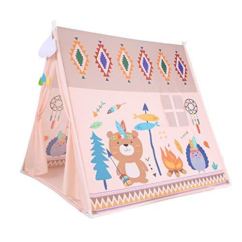 Carpa Infantil Tipi los niños juegan carpa plegable teatro de estilo indio con ventana for el regalo del interior al aire libre for niños niños niñas Playhouse Toy para Juegos de Interior y Exterior