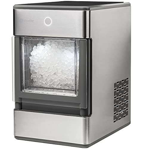 GE Profile Profile Opal GE Nugget Portable Machine Complete with Bluetooth Connectivity | Smart Home Kitchen Essentials | Stainless Steel Finish | Up to 24 lbs Per Day Countertop Ice Maker, Stainless