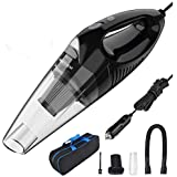 FRUITEAM Car Vacuum 5000PA Strong Suction DC 12V Wet Dry Handheld Vacuum Portable Pet Hair Cleaner, with 16.4 Feet Power Cord, Upgraded HEPA Filter