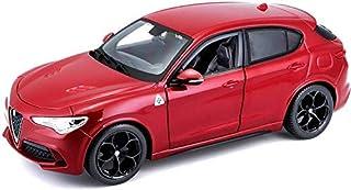 Bburago Die-Cast 1:24 Scale Alfa Romeo Stelvio Car (Red)