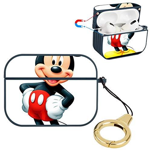 DISNEY COLLECTION Carcasa rígida de plástico con llavero compatible con AirPods Pro, diseño de Mickey Mouse, a prueba de golpes, compatible con AirPods Pro, color azul