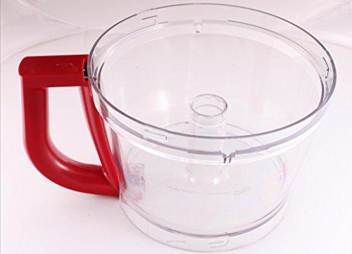 Vervangende Empire rode kom (W10592804) voor KitchenAid 13-cup keukenmachine (modellen vanaf 5KFP13 en KFP13)