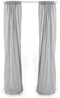 Glenna Jean Starlight Drapery Panels, Lined Grey Embroidery