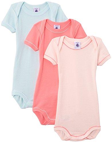 Petit Bateau - Body - Uni - Lot de 3 - Bébé fille, Multicolore (Special Lot 99), 4 ans