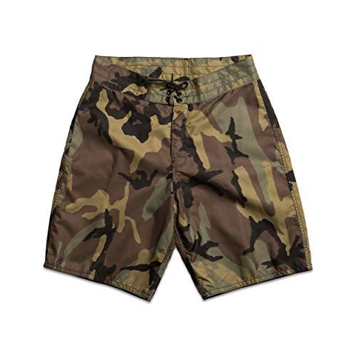Birdwell Men's 312 Nylon Board Shorts, Long Length (Camouflage, 31)