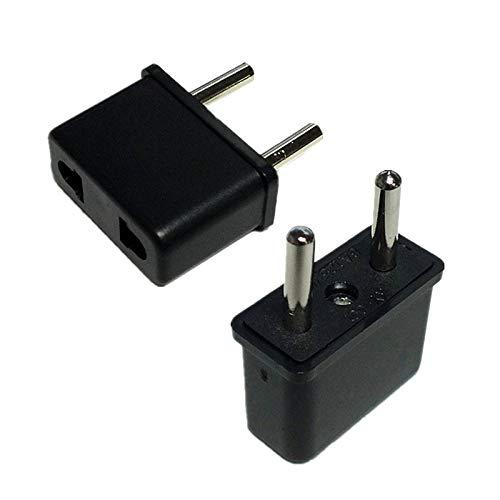 100pcs Universal USA US to EU Europe Euro Travel Charger Power Adapter Converter Wall Home Plug