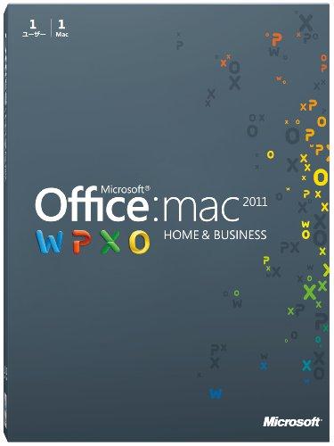 マイクロソフト Microsoft Office for Mac Home and Business 2011-1パック