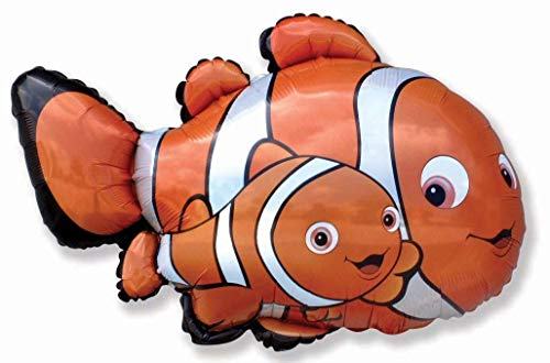 37 Zoll Clownsfisch Charakter Hat Folieballon (CS52) Gestaltet