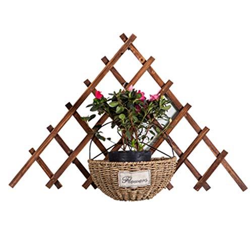 AWX-Flower staande verbreding voor tuinhek, corrosiebestendig, van hout, bloemenrooster