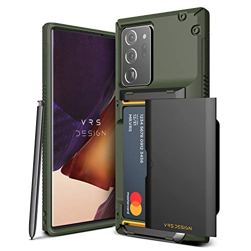 VRS DESIGN Damda Glide Pro for Galaxy Note 20 Ultra, with [4 Cards] [Semi Auto] Premium Sturdy Credit Card Slot Wallet for Samsung Galaxy Note 20 Ultra 5G Case 6.9 inch(2020)