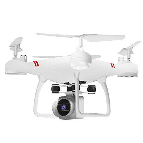 SZMYLED HJ14 Drone,con telecomando, Lame di standby, Coperchio di protezione della lama,Porta telefono,undercart,Adatto a principianti, regali di compleanno Batteria bianca 3