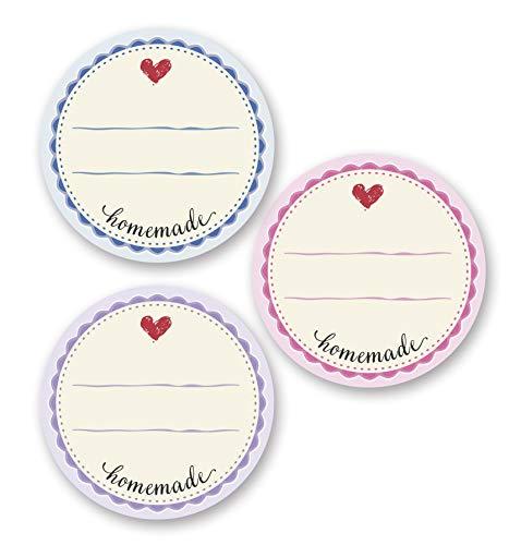 AVERY Zweckform 56819 Marmelade Sticker auf Rolle 50 Stück (Etiketten, Aufkleber für Selbstgemachtes, ablösbare selbstklebende Papiersticker 38 mm im Spender, beschriftbar, Geschenk, Einmachetiketten)