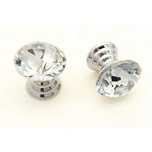 Keukenkast handgrepen set / 10 stuks mini 18 mm helder opbergdoos juwelendoos kristallen glas geometrische Rhombic gesneden knoppen make-up box geschenkdoos lade handgrepen met schroeven kast