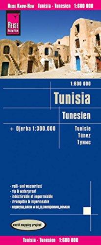 Reise Know-How Landkarte Tunesien (1:600.000) mit Djerba (1:300.000): world mapping project, reiß- und wasserfest