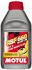MOTUL Rbf 660 – Racing DOT 4 Líquido de frenos 500 ml (Pack de 4)