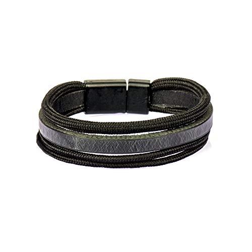 Gök-Türk Unisex Stretch Bracelet for Men and Women, Natural Stone, Wood, Metal, Modern, Handmade, Handmade Style 19