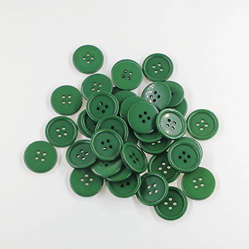 """13/16""""(20mm) Flatback Resin Green Buttons Sewing Buttons , DIY Crafts Children's Manual Button Painting,DIY Handmade Ornament Pack of 100 Pcs Leekayer"""