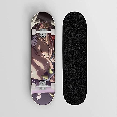 Nixi888 Anime Skateboard Professional Patinetas para Adultos Professional Brush Street Board Double Rocker Skateboard para UNO Pieza KAEDO Cargo-RODAMIENTO DE 100 KG