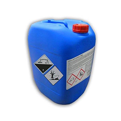 Hipoclorito de Sodio Agua Potable | Desinfectante en tratamientos de agua destinada al consumo humano | Garrafa de 25 Kg.