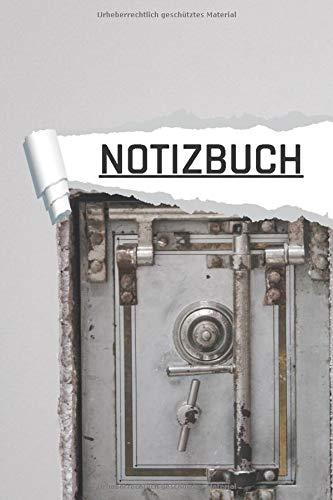 NOTIZBUCH: Tresor Motiv liniert I DIN-A5 I 120 Seiten in Cremefarben I Journal