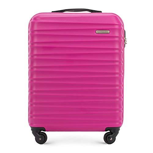 WITTCHEN Koffer – Handgepäck | hartschalen, Material: ABS | hochwertiger und Stabiler | Rosa | 34 L | 54x20x38 cm